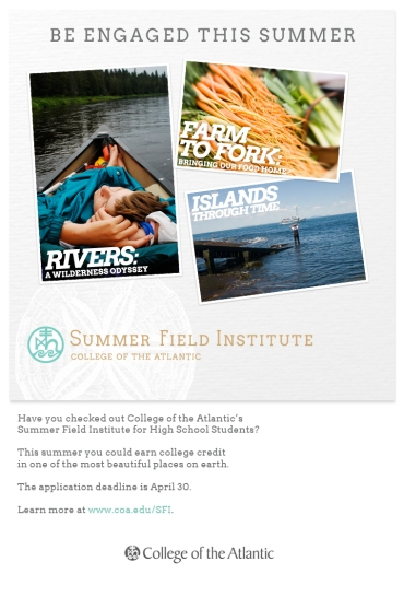 Porcupine Design College of the Atlantic Admission Email Campaign Graphic