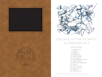 Porcupine Design College of the Atlantic Admission Guidebook Graphics