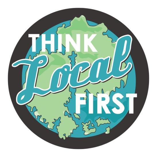 Porcupine Design think Local first logo Bar Harbor Merchants Association Graphics