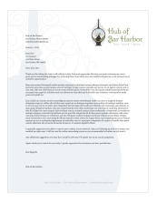 Hub of Bar Harbor letterhead | Porcupine Design