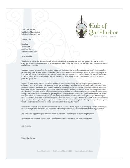 Hub of Bar Harbor letterhead | Porcupine Design