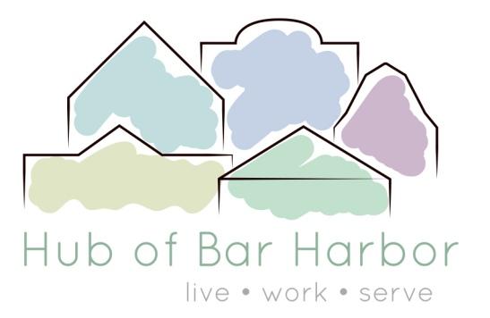 Hub of Bar Harbor Logo | Porcupine Design