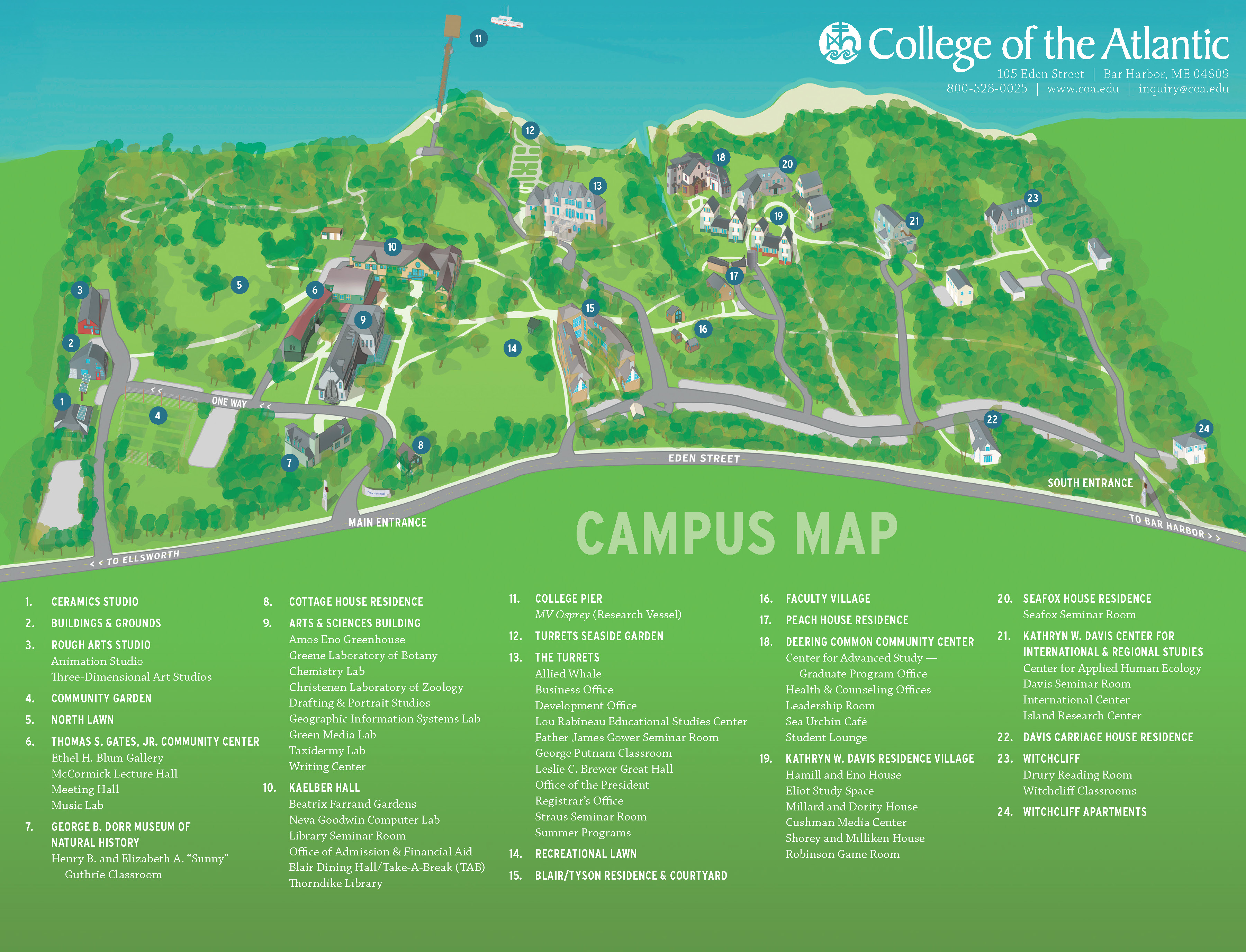 Coa Campus Map.Coa Campus Map Illustration Porcupine Design