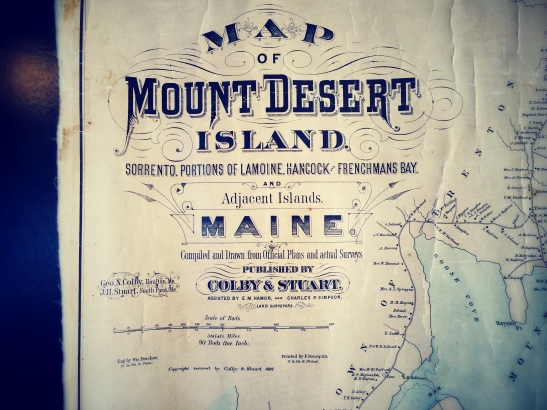 Mount Desert Island Map Inspiration